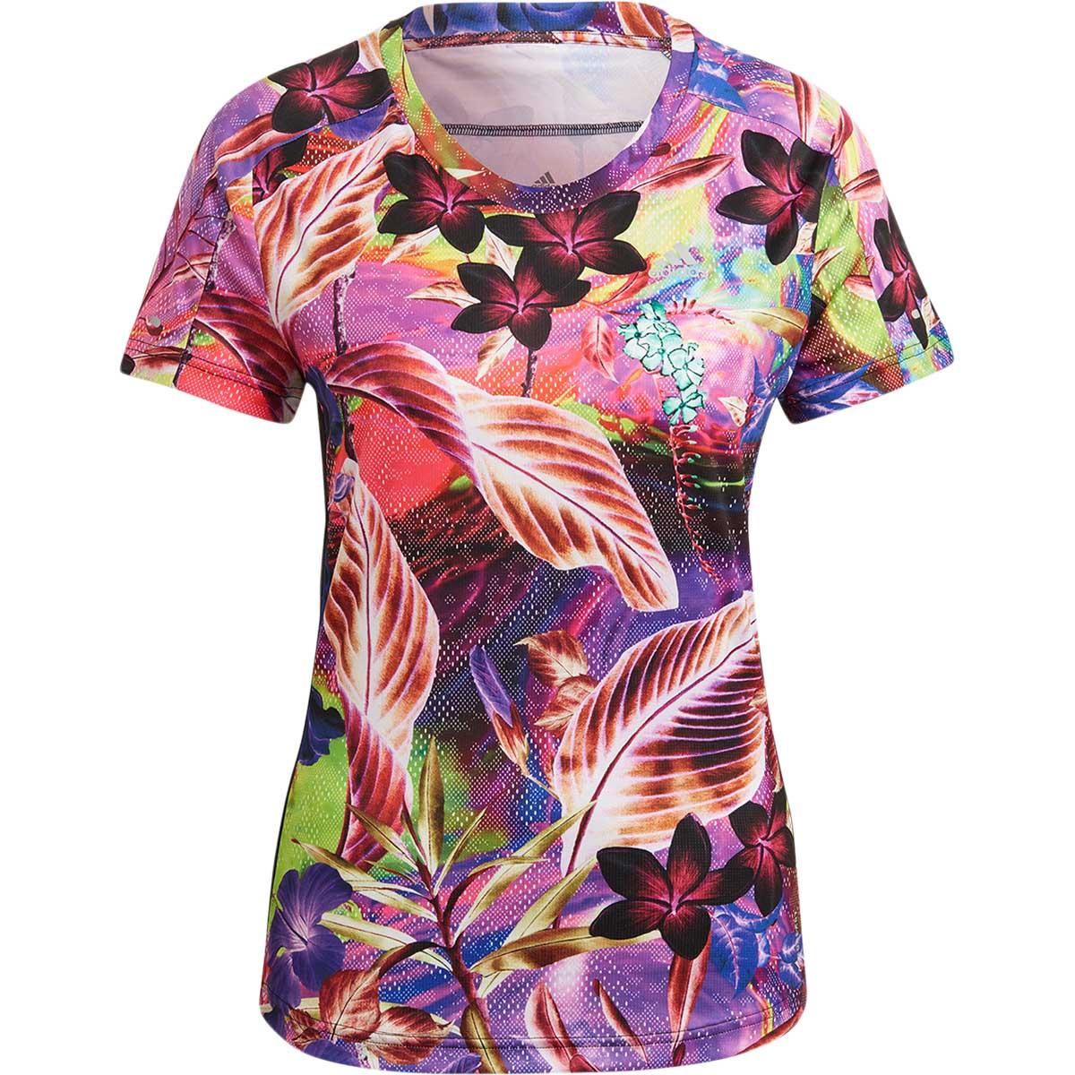adidas Floral Løbe T-shirt Dame