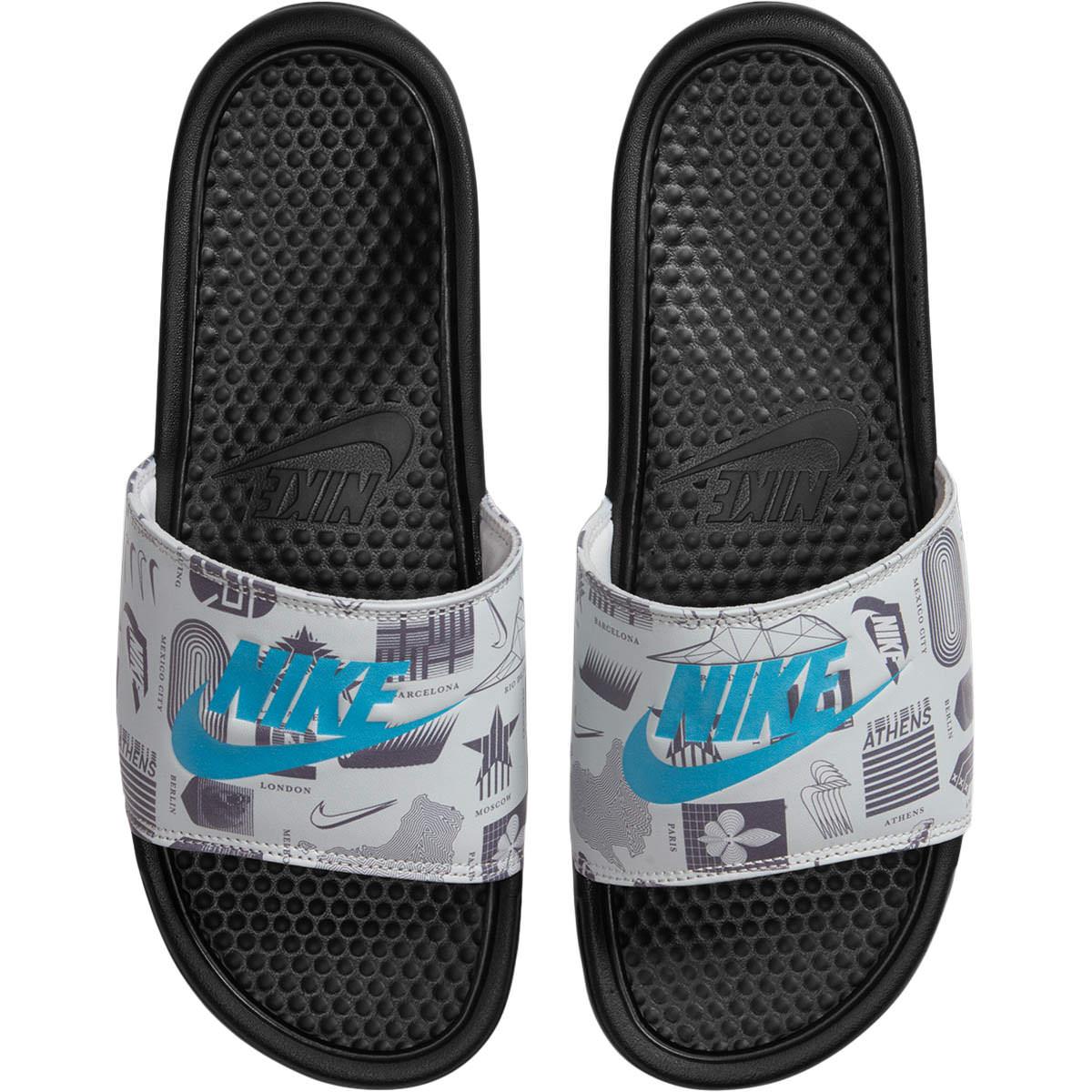 Nike Benassi Just Do It Print Badesandaler