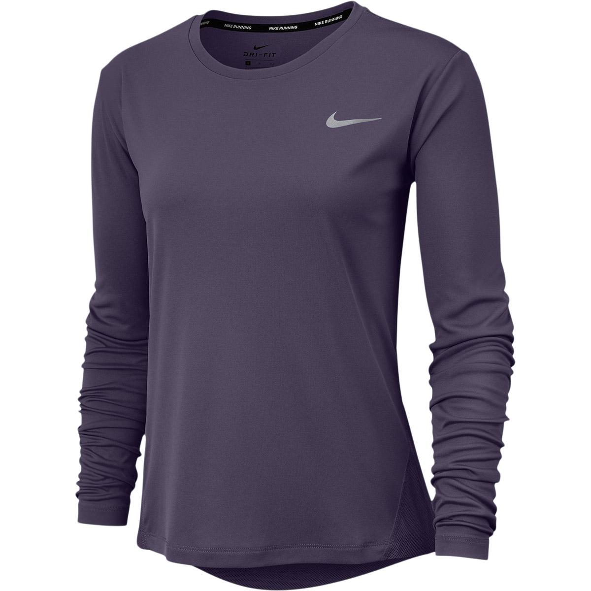 Nike Miler Langærmet Løbe T-shirt Dame