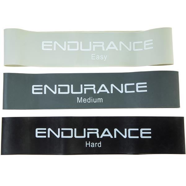 Endurance Mini Loop Træningselastikker 3-Pak