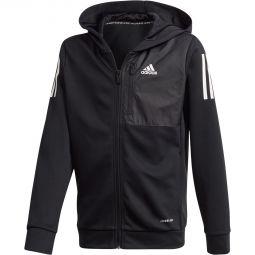 adidas Aeroready Full Zip Hood Træningstrøje Børn